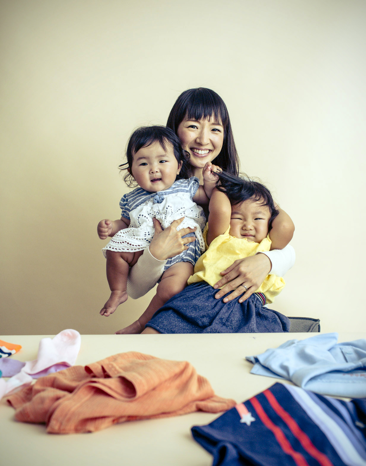 marie kondo with children, san francisco, ca